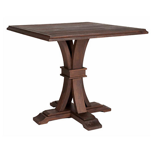 "Collins 40"" Square Dining Table, Java"