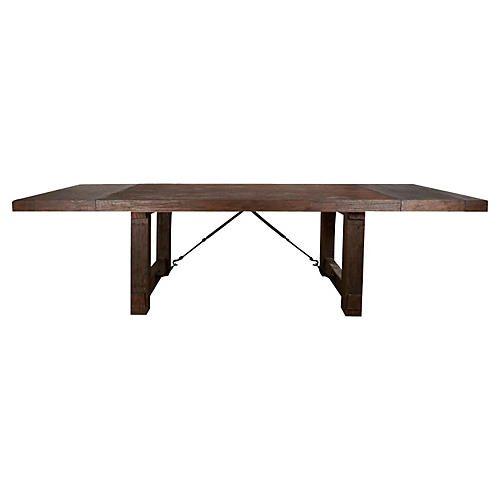 Darcy Extension Table, Rustic Java