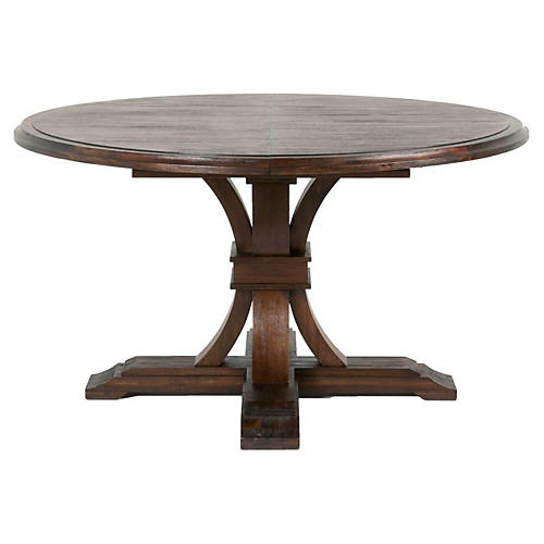 Bijou Extension Dining Table, Rustic Java
