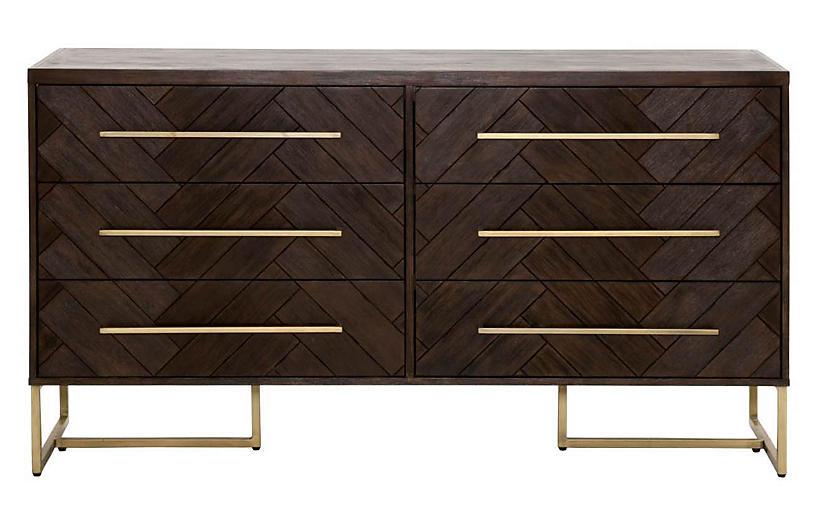 Harlowe Double Dresser, Rustic Java