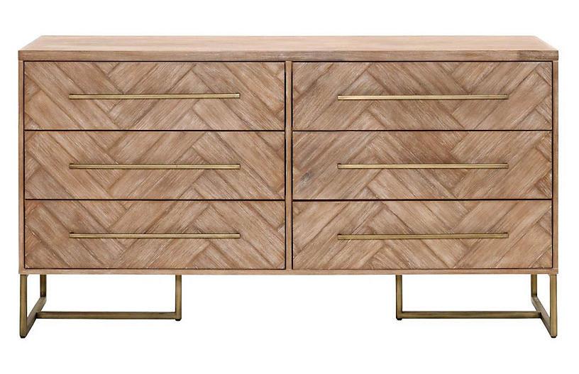 Harlowe Double Dresser, Stone Wash