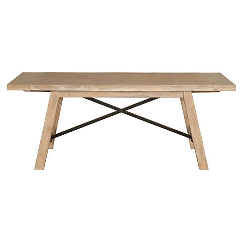 "Trent 79"" Ext. Dining Table, Stonewash"