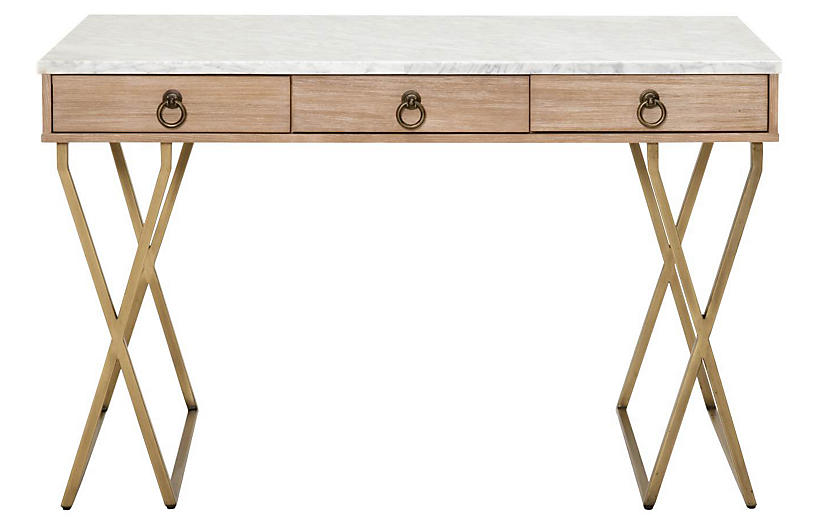 Salome Desk, Stonewash