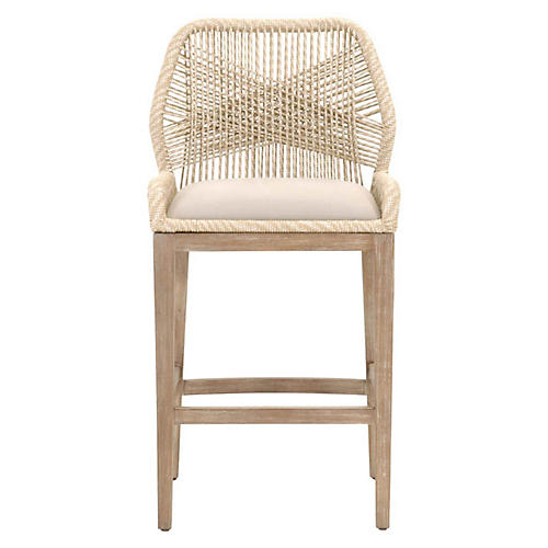 Loom Outdoor Barstool, Sand