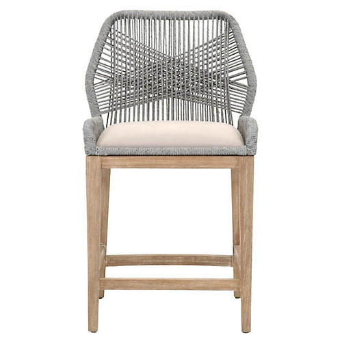 Loom Counter Stool, Platinum