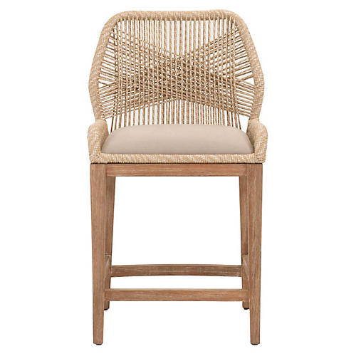 Loom Counter Stool, Sand