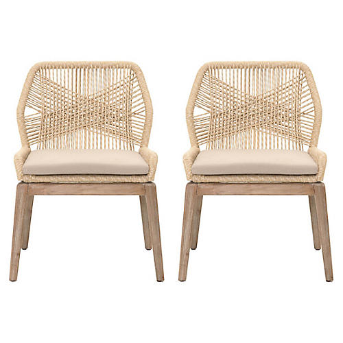 Set of 2 Colin Loom Side Chairs, Natural