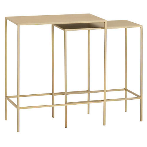 Camilo Nesting Tables, Brass