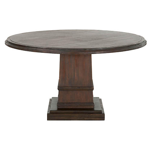 Willis Dining Table, Rustic Java