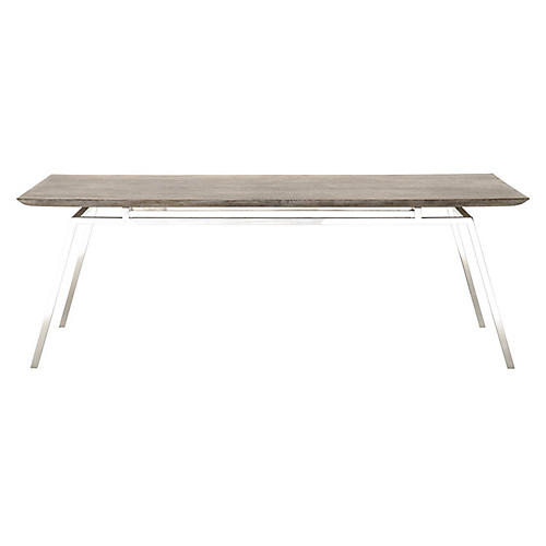 Quincy Dining Table, Stonewash
