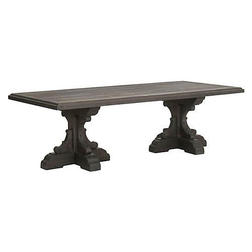 Baldwin Dining Table, Blackwash