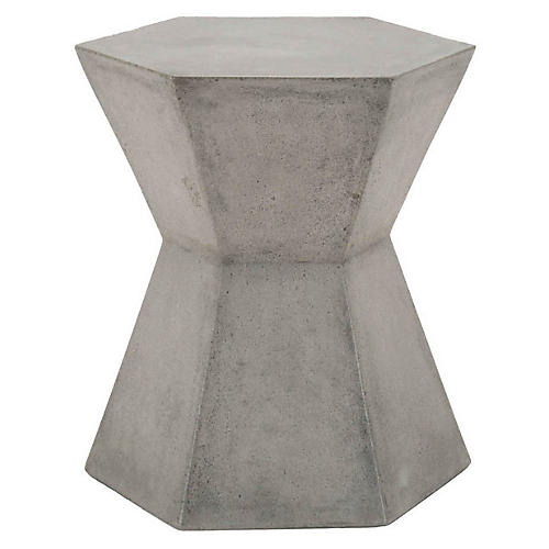 Sofia Outdoor Side Table, Slate Gray