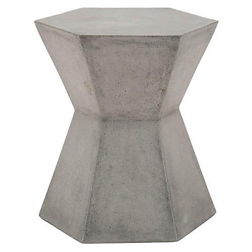 Sofia Outdoor Side Table, Slate Gray
