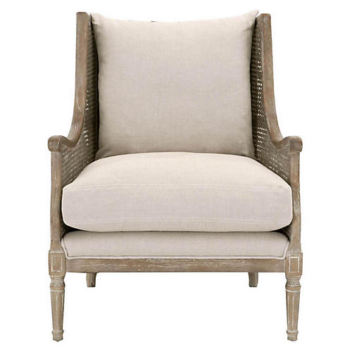Diana Club Chair, Sand Linen