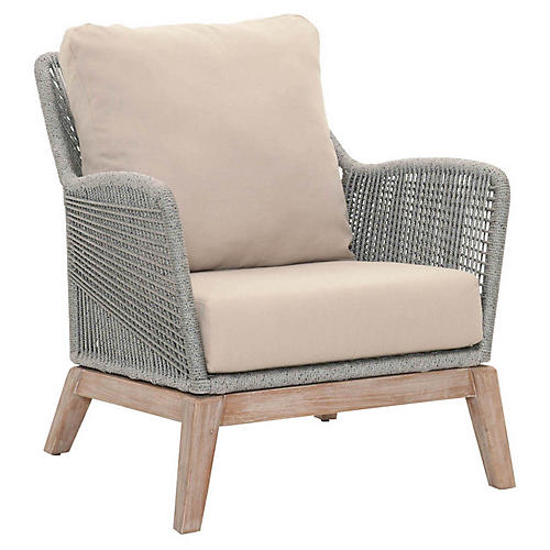 Scout Club Chair, Gray/Platinum Linen