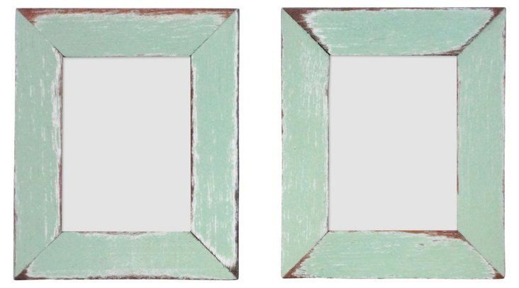 S/2 Corolla Frames, 2x3, Teal