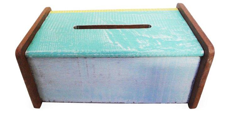 Tissue Box, Blue/Green