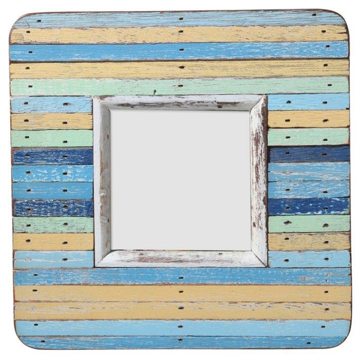 Watch Hill Striped Frame, 4x4, Blue