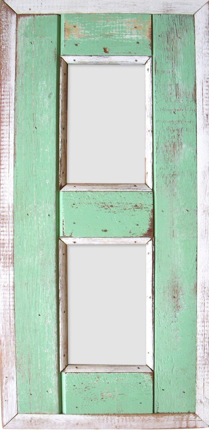 Watch Hill 2-Photp Frame, 4x6, Green