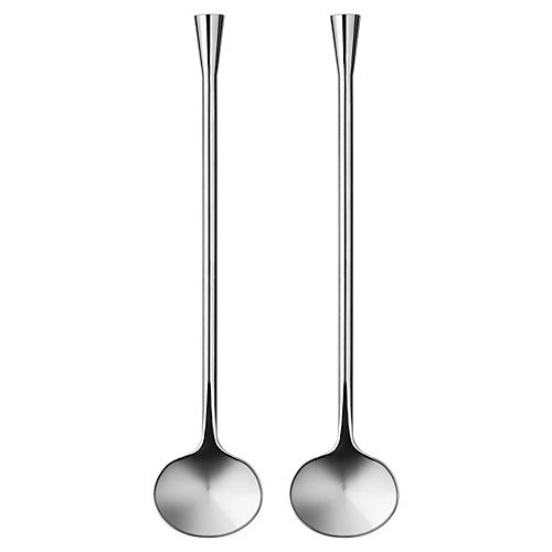 S/2 City Spoons, Silver