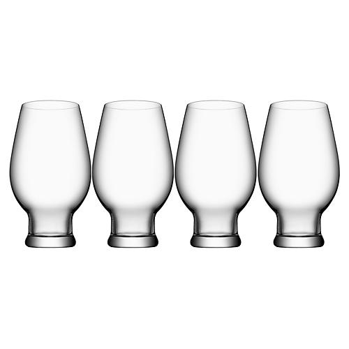 S/4 Beer IPA Glasses, Clear
