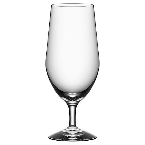 S/4 Morberg Beer Glasses, Clear