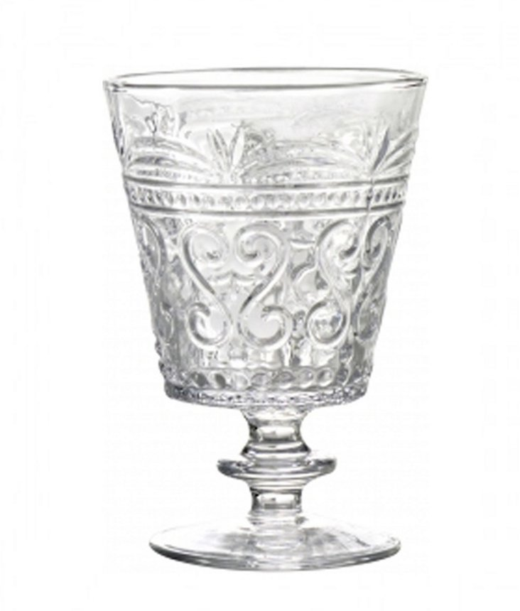 S/6 Provenzale Wineglasses, Clear