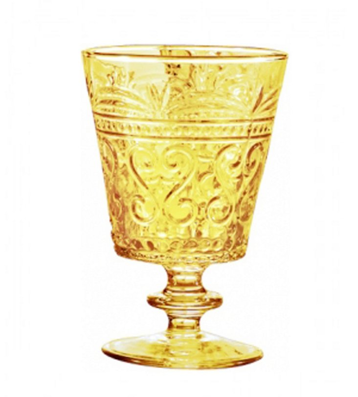 S/6 Wine Goblets, Amber