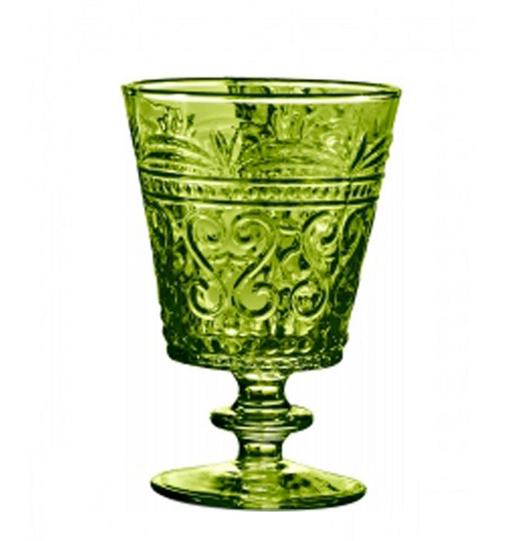 S/6 Wine Goblets, Apple Green