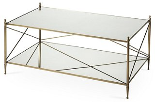 Tiverton Mirrored Coffee Table, Gold   One Kings Lane   Brands | One Kings  Lane