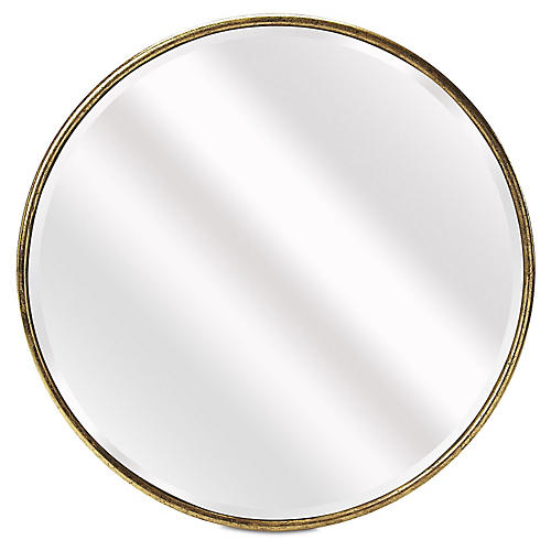 Ella Beveled Wall Mirror, Gold