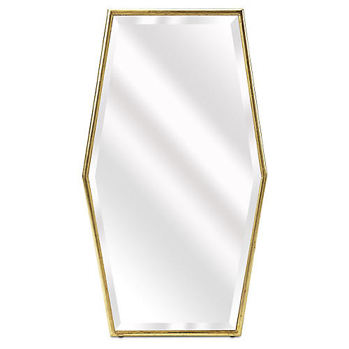 Arlo Beveled Wall Mirror, Gold