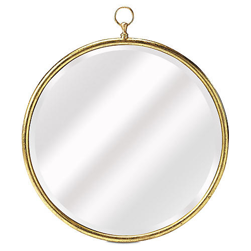 Fiona Beveled Wall Mirror, Gold