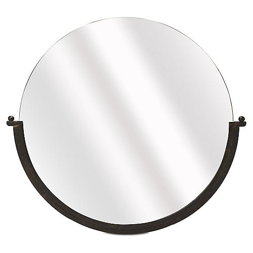 Siena Round Wall Mirror, Bronze