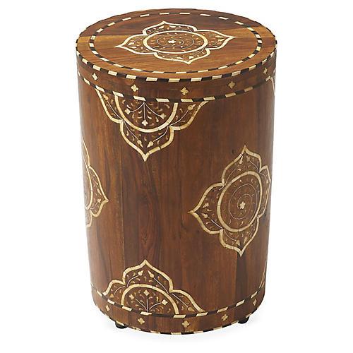 Bari Side Table, Bone/Wood