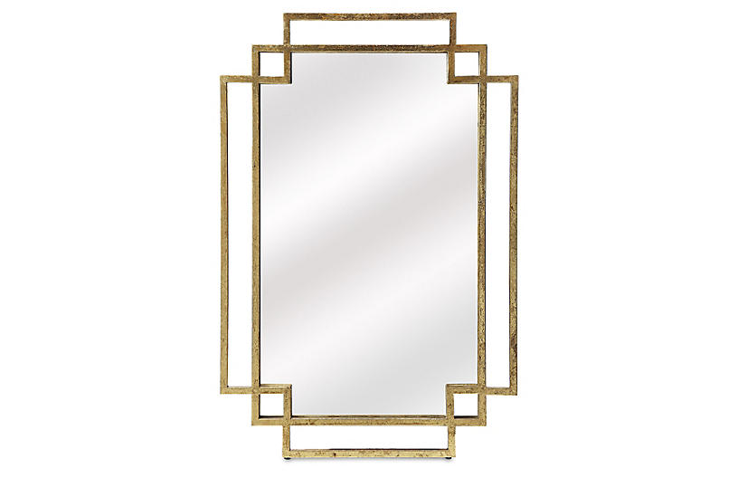 Beryl Wall Mirror, Gold
