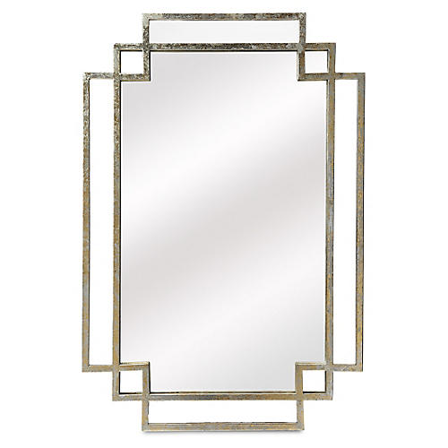 Beryl Wall Mirror, Silver