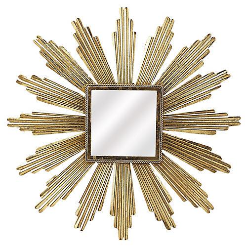 Reni Sunburst Wall Mirror, Gold