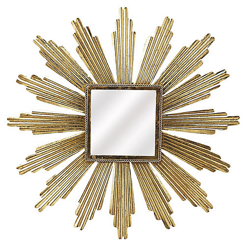 Reni Sunburst Wall Mirror, Gold