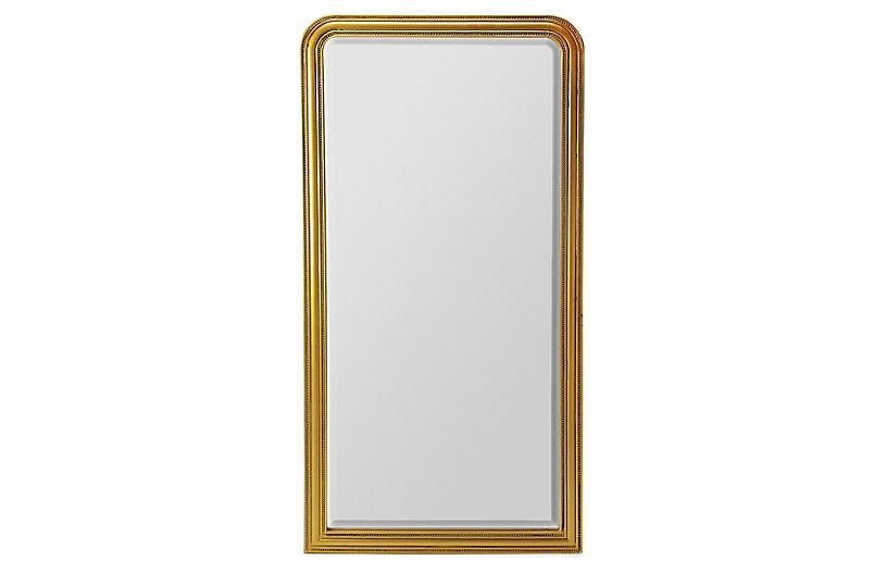 Bethany Floor Mirror, Gold