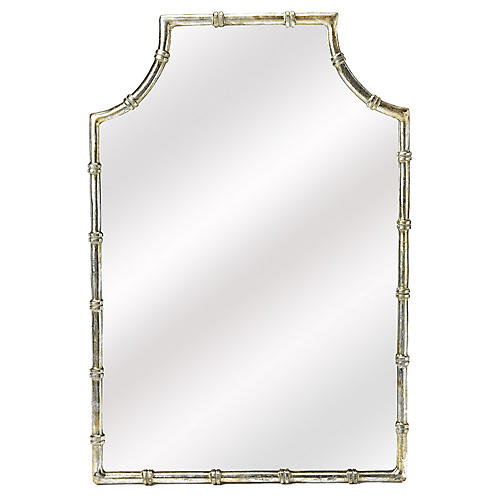 Leora Wall Mirror, Antiqued Gold