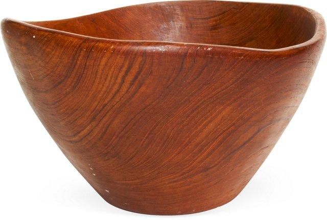 Sculptural Teak Bowl