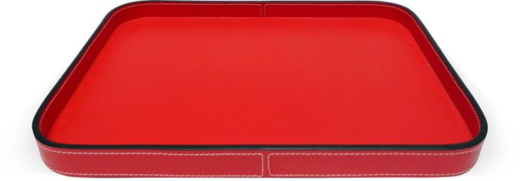 Italian Red Leather Tray