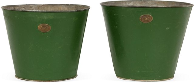 Green Buckets, Set of 2