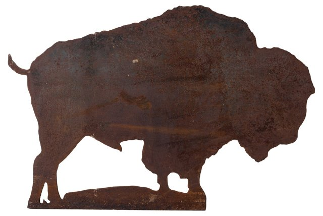 Large Cut Steel Buffalo