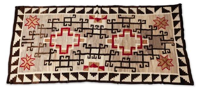 "Storm Pattern Navajo Rug, 5' 6"" x 10' 5"""
