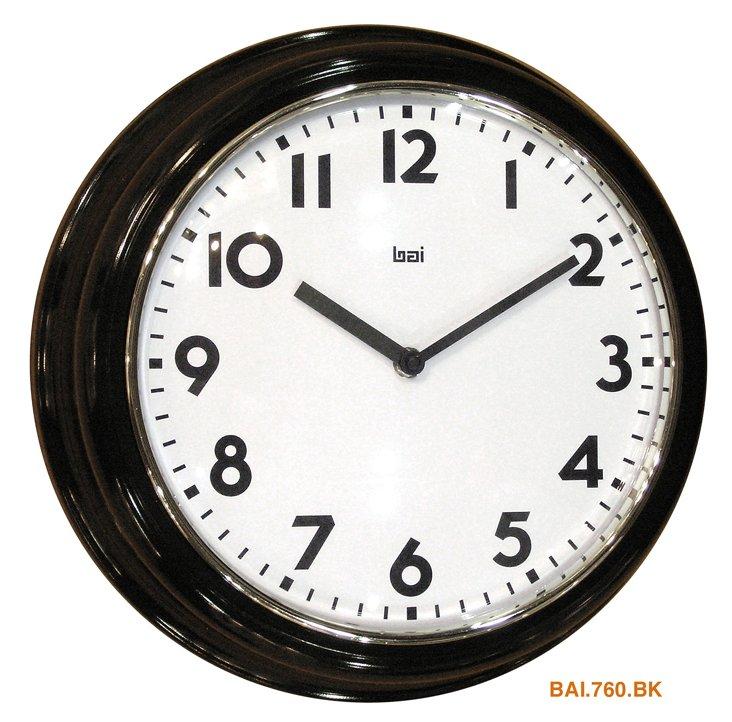 Tomlin Wall Clock, Black