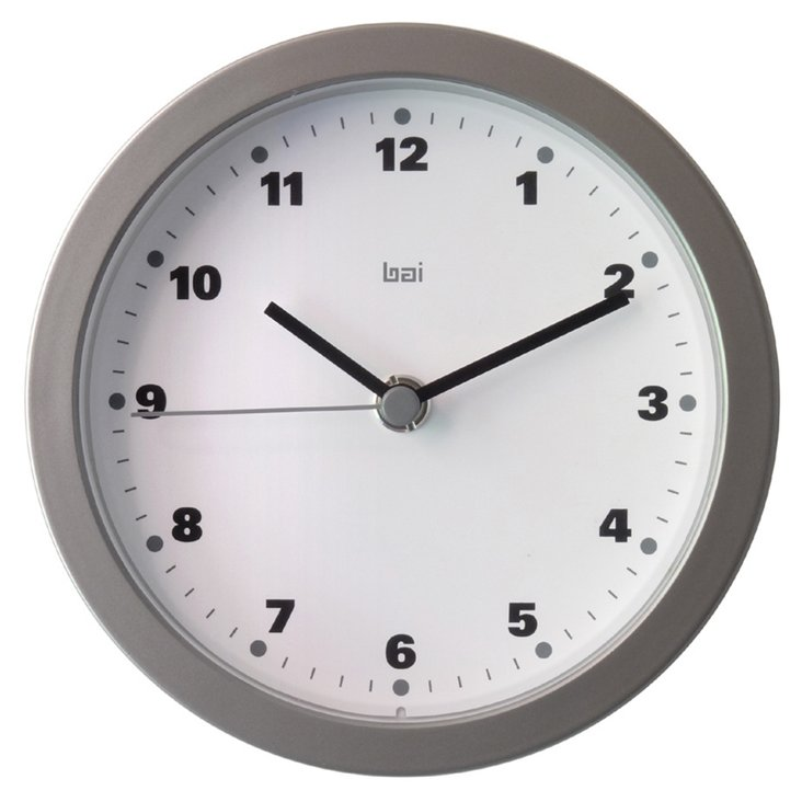 Phillip Studio Wall Clock, Silver