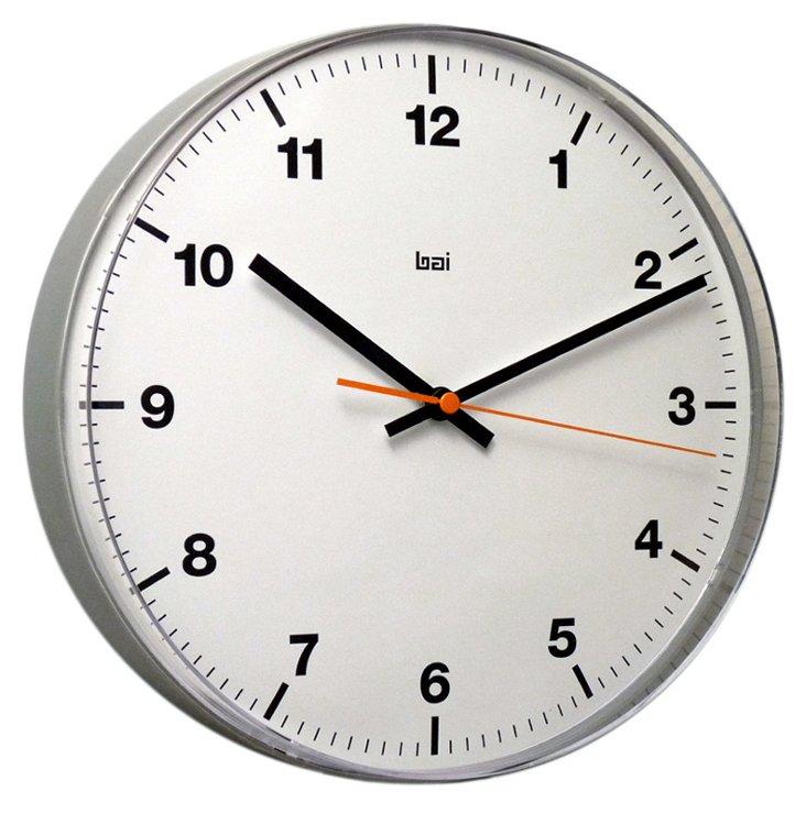 Calvin Wall Clock, Silver