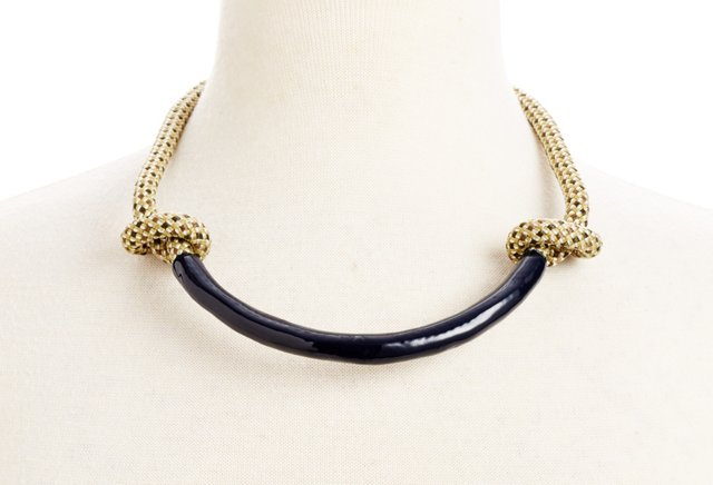 Necco Necklace, Check/Midnight